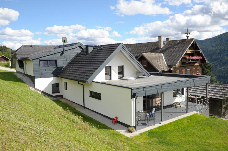 300m tondach flachdach epdm fassade prefa fx12 prefalzdach privathaus st michael. Black Bedroom Furniture Sets. Home Design Ideas